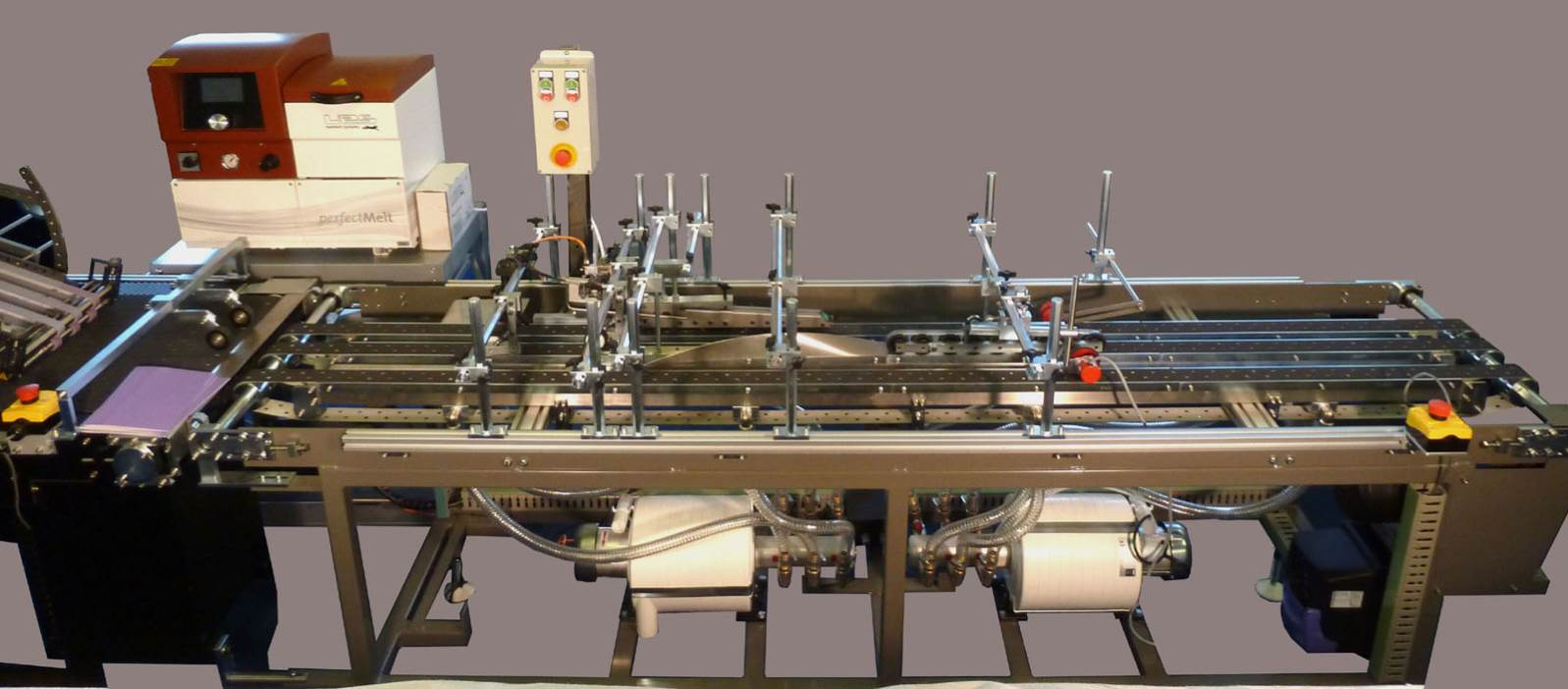 BES Octo Narrow Band Vacuum Conveyor. Ideal for Print finishing operations